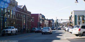 Downtown Lancaster Kentucky in Garrard County