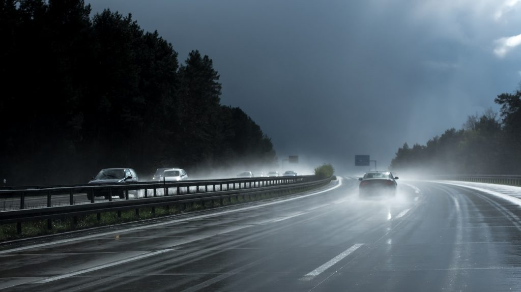 Highway driving rainy conditions